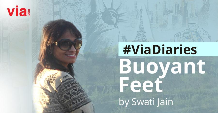 Via Diaries buoyant feet