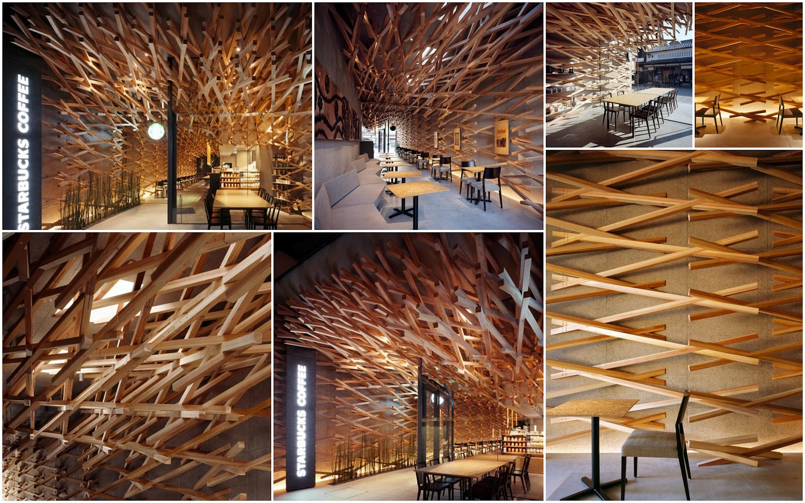 Starbucks coffee Japan by Kengo Kuma