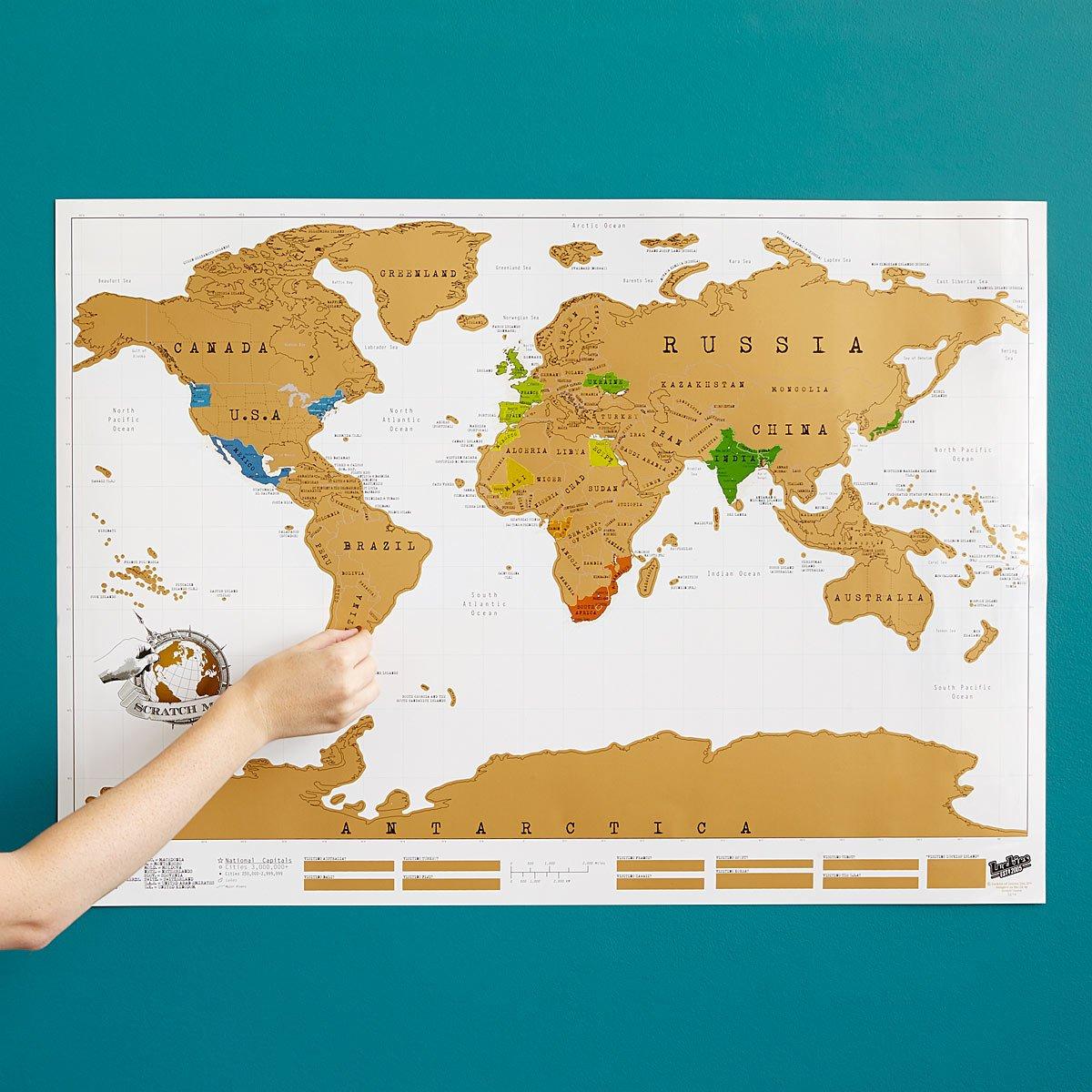 Scratch-off map