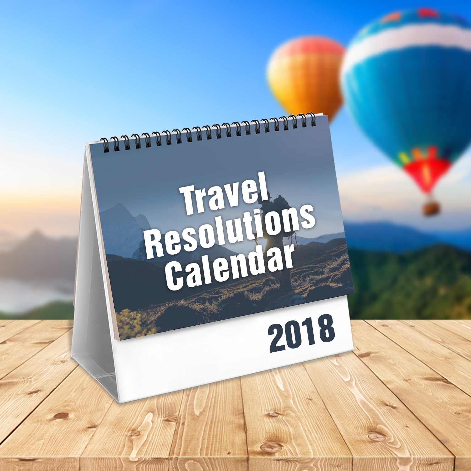 Travel Resolutions Calendar 2018